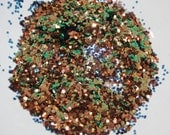 Coppery Green Sparkle Glitter 0.062 Hex - 1 Fl. Ounce for Glitter Nail Art & Glitter Crafts