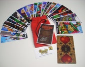 Wonderland Tarot Cards - 22 Card Major Arcana Deck (With Handmade Tarot bag)