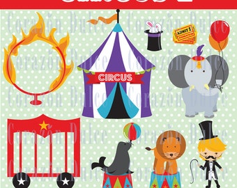 INSTANT DOWNLOAD Circus 2 Clip art -Personal and Commercial Use-