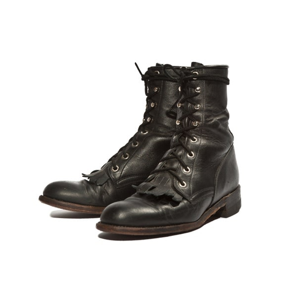 vintage justin lace up ankle boots country by