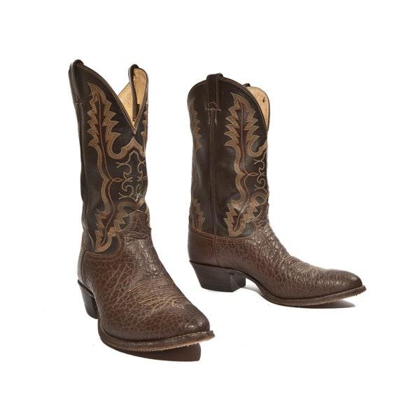 Men S Justin Cowboy Boots 2222 Coffee Bullhide Brown