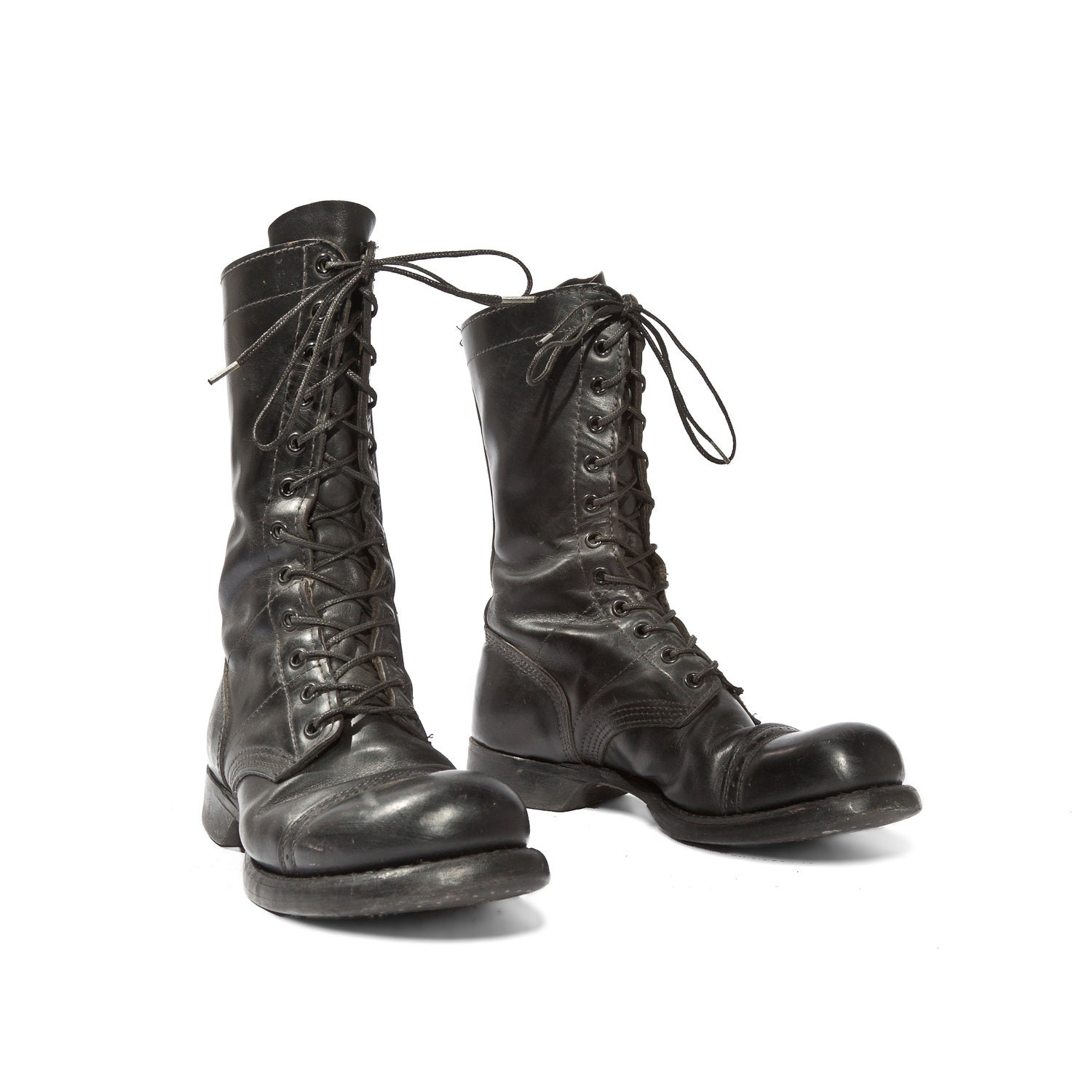 Elegant Diesel Womens Black Leather Arthik Combat Boots  Womenstyleaa