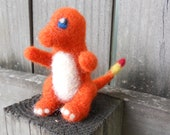 Reserved for Wendy -- Felt Charmander with Priority Shipping