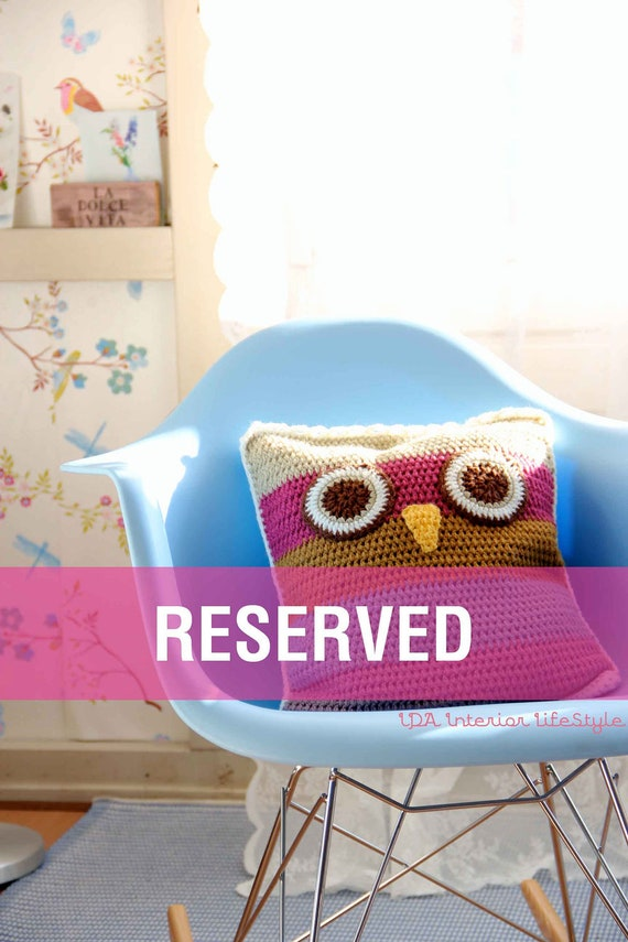 Cushowl -owl crochet cushion cover-