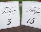 2 Elegant Bling Signs / Photo Props........... Table Numbers, Mr and Mrs, Bride and Groom, etc......