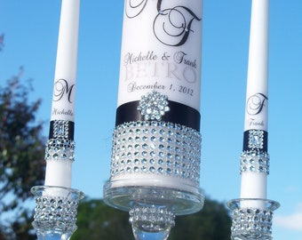 Black Tie Affair............Unity Candle and Holder Set
