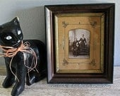 Antique Picture Frame with Victorian Photo
