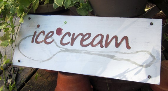 SALE -- Ice Cream Sign