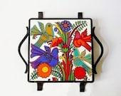 Vintage Villeroy and Boch Ceramic Trivet Accapulco Design