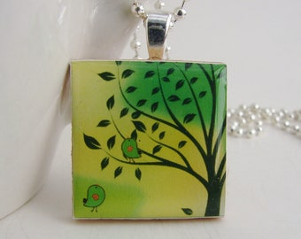 Tree Pendant with Free Necklace