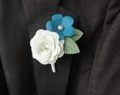 Paper Rose Boutonniere - Wedding Paper Flower