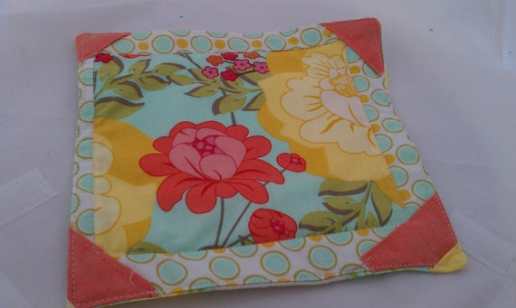 Mug Rug Tea Rug Tea Coaster Mug Coaster Ready to ship OOAK Designer Fabrics Linen