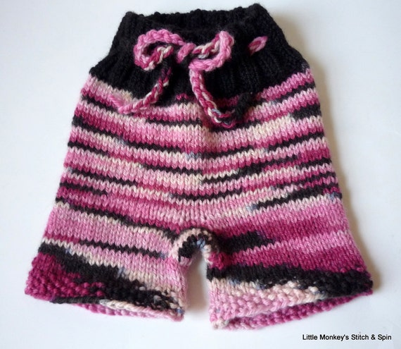 """Clearance - Small Shorties on handdyed BFL """"Midnight Roses"""", INSTOCK"""