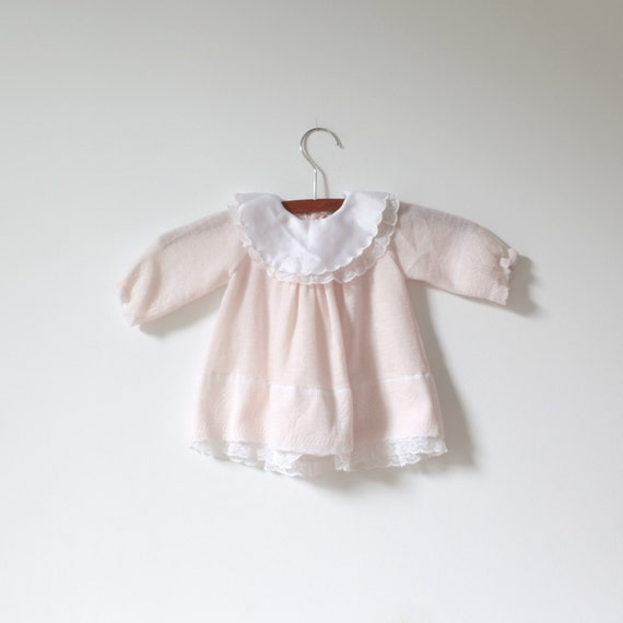 Vintage Pink Sweater Knit Dress (6 months)