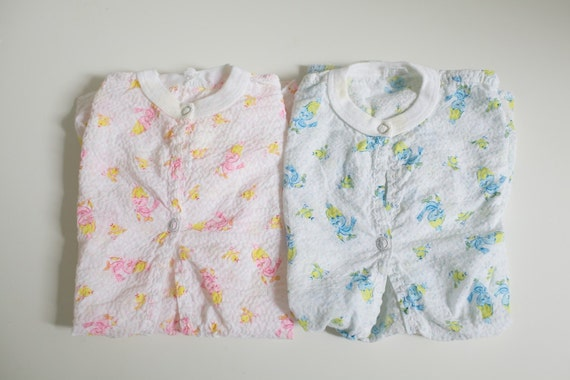 Vintage Retro Print Baby Gowns - Set of Two (0-6 months)