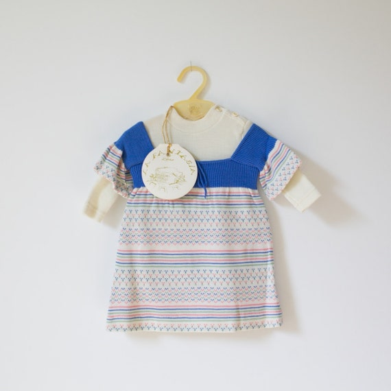 Vintage NEW OLD STOCK Sweater Dress Outfit (6 months)