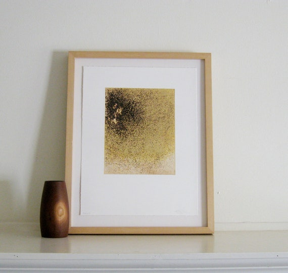 Intaglio Monoprint: Salt (in Yellow Ochre and Brown)