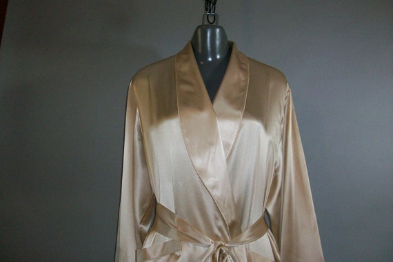 NORDSTROM Silk Satin // Wrap Robe // Tie // Full Length... medium/large
