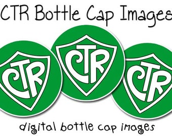 """INSTANT Download CTR LDS Bottle Cap Images 1"""" Choose the Right Stickers"""
