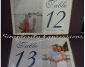 Horizontal Photo Table Number
