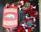 "Arkansas Razorbacks  24"" Grapevine Wreath"