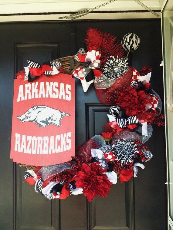 "Arkansas Razorbacks  24"" Grapevine Wreath"