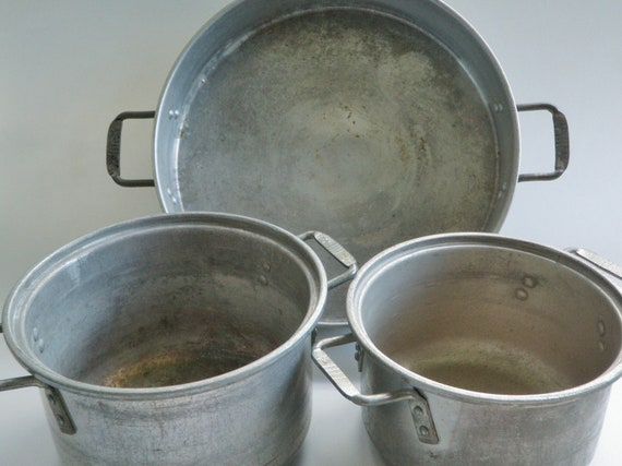Vintage Camper Pots Amp Pans Wear Ever Aluminum Star Usa 3 Pc