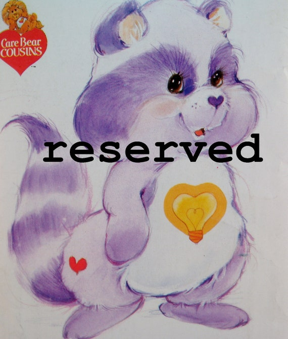 Reserved for Kathy Care Bear Raccoon Pattern Butterick 3380 Care Bear Cousins Uncut