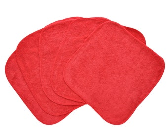 Baby Washcloths Red 10 Pack