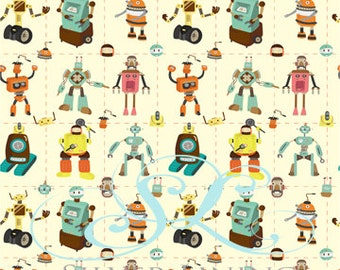 NEW DESIGN 5' x 6' Photography Backdrop / Robots / Vinyl Photo Prop