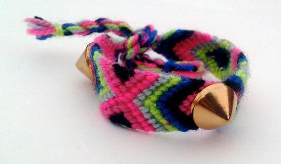 Zoe Spike Studded Friendship Bracelet Gold