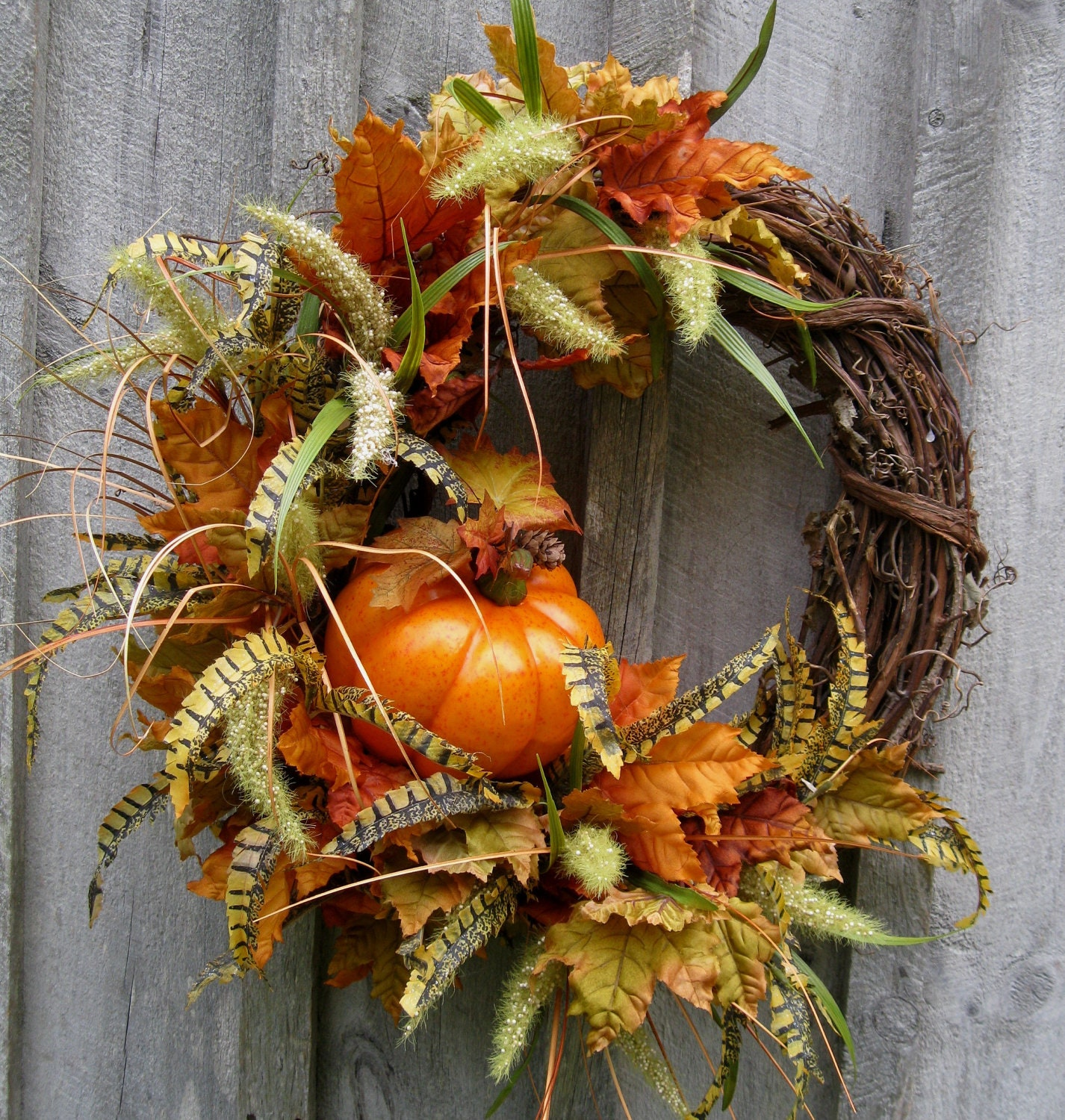 Fall Wreaths Pumpkin Wreath Autumn D Cor Thanksgiving