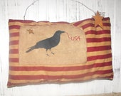 Flag, Americana, with crow
