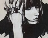 Art Print Postcard: Ash