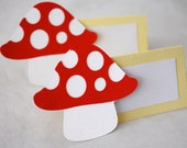 Mushroom Food Tags Place Holder Set of 12 By Your Little Cupcake