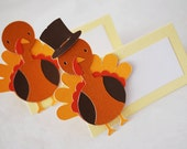 Thanksgiving Turkey Food Tags Place Holder Set of 12 By Your Little Cupcake