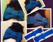 Crochet Interchangeable Bow Headband-PDF Crochet Pattern ONLY