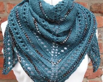 Shimmering Seas Shawl PDF Knitting Pattern