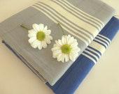 Set of 2 Natural Turkish hand towel, Tea Towel, BATH towel, Peshkir,Pure Cotton, spa, yoga, soft baby, grey