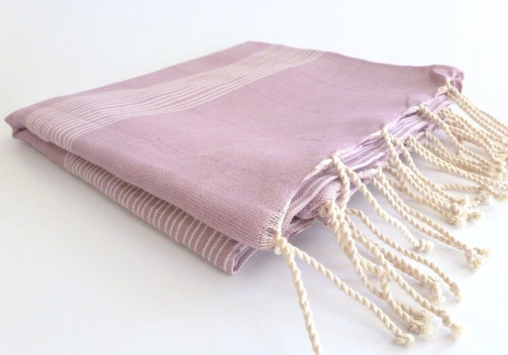 Ultrathin Turkish Towel, Pareo, Sarong on the boat, Peshtemal, Organic Bamboo and Cotton, Pink