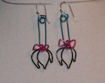 Wire Wrapped Eeyore's Tail Earrings MADE to ORDER