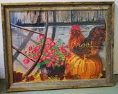 Rooster sittin' on a Pumpkin- ORIGINAL ART