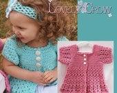 Girl Sweater Crochet Pattern BELLA REBEKAH CARDIGAN digital