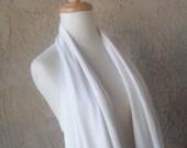SALE - Creamy Ivory Jersey Vest-Scarf - Women's Fashion - Summer Clothing by sandeeknits - Tee Shirt