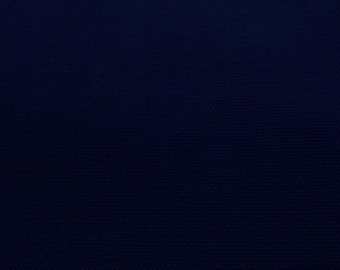 Very dark blue, wide, medium weighted canvas, thick, fat quarter, pure cotton fabric