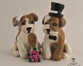 Custom Dog Wedding Cake Toppers, Bulldog