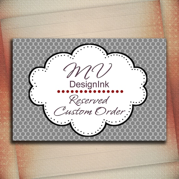 Reserved Custom Order for edithgoico