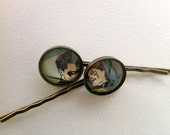 Robin and Batgirl bobby pins