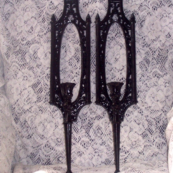 vintage wall sconces romantic wedding decor paris apartment shabby chic syroco  black french country cottage chic decor