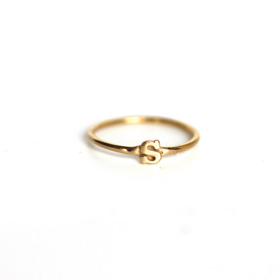B Letter In Gold Ring Unavailable Listing on...
